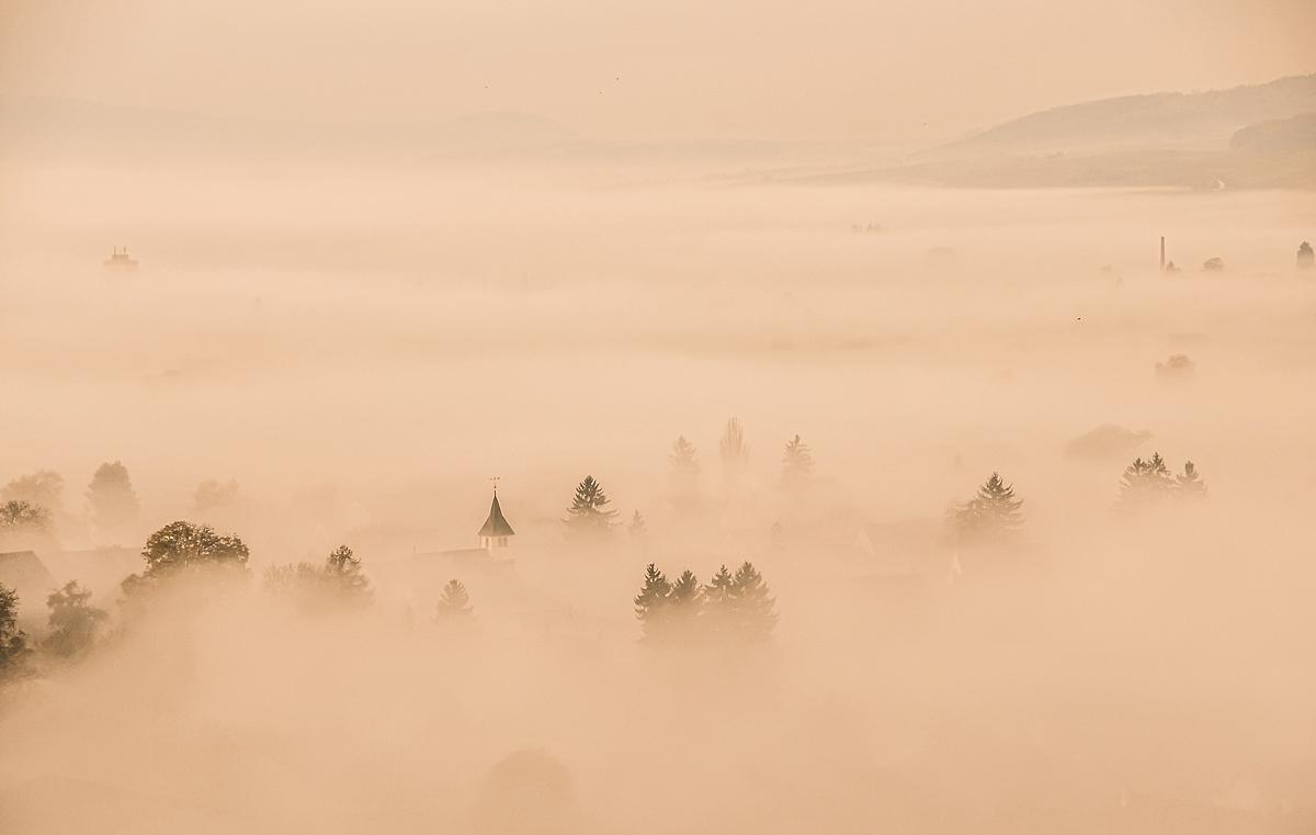 Logez Landschaftsbilder Nebelmeer Hallau