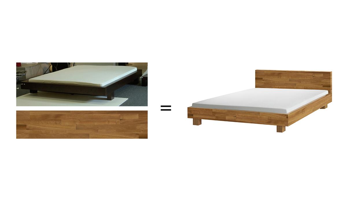 Bildbearbeitung Bildmontage Bett Logez