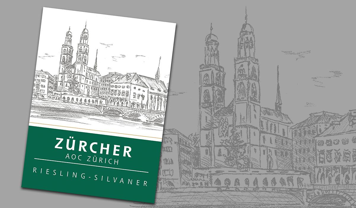 Logez Illustration Zürcher Münster für Weinetikette