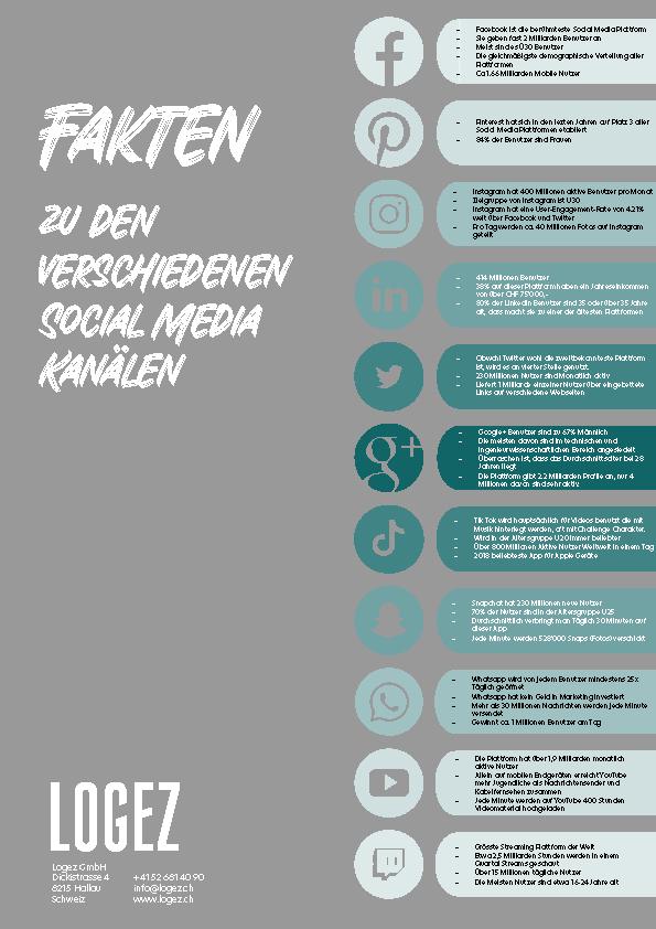 Logez Wissen Fakten zu den Social Media Plattformen